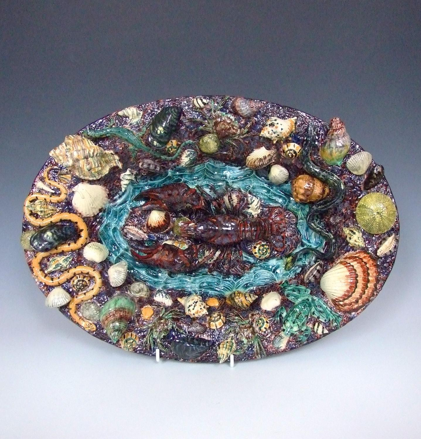 Thomas Sergent Palissy lobster plate