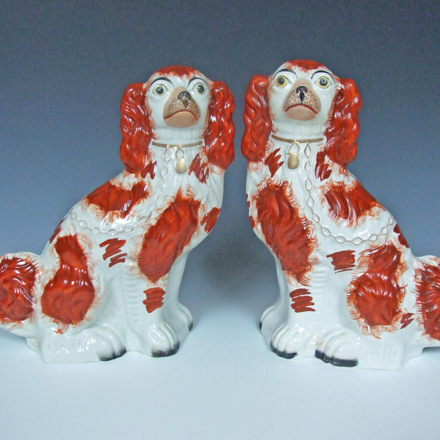 #1 size red & white Staffordshire Spaniels