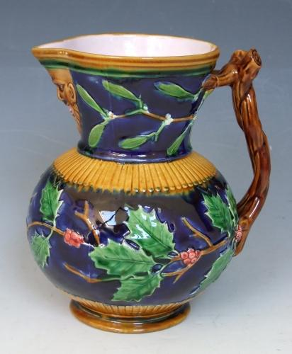 Minton majolica christmas pitcher