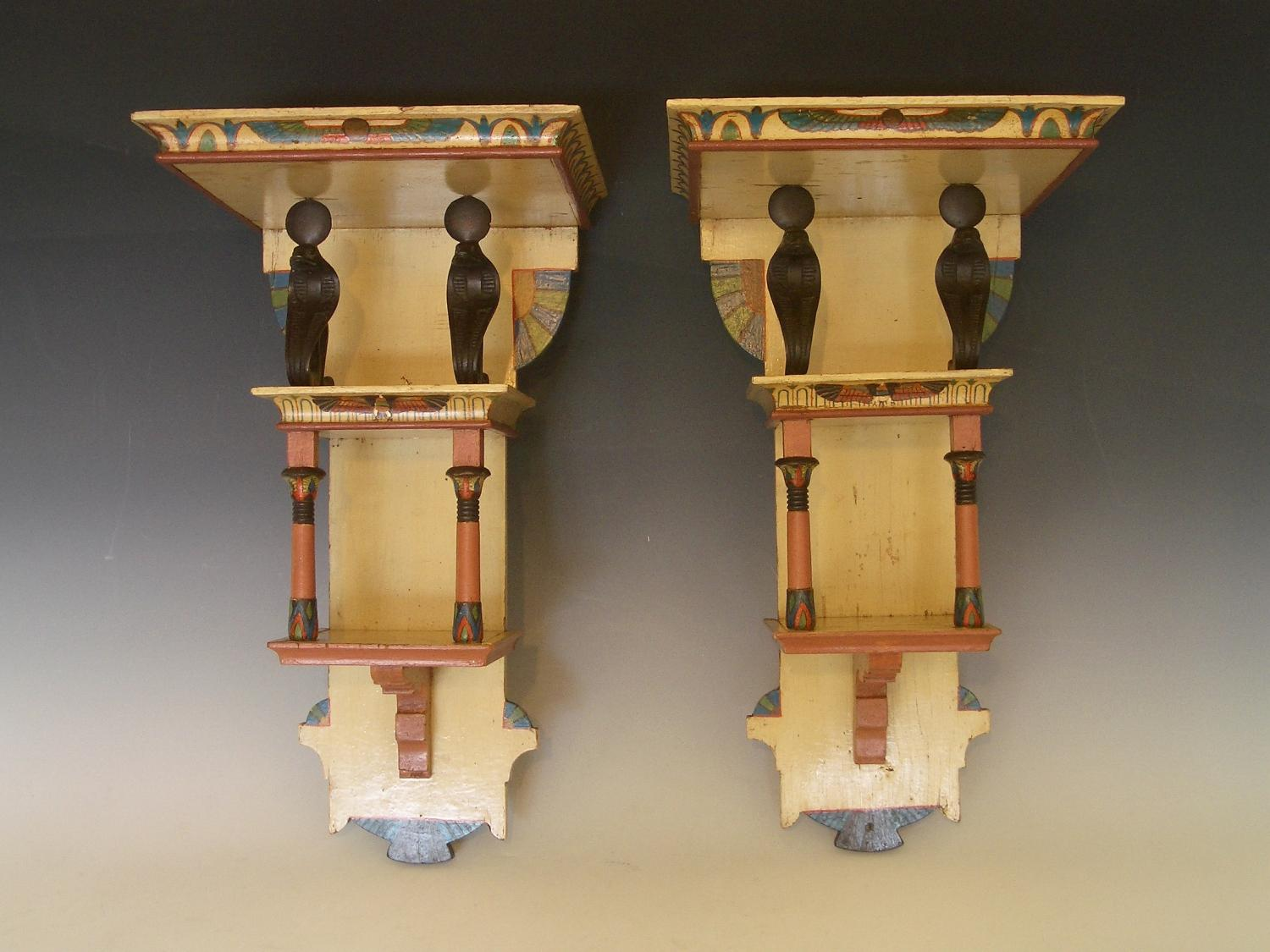 Pair of Egyptian revival brackets