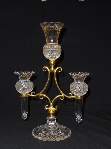 Osler cut crystal glass & ormolu epergne