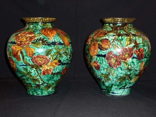 Rare pair of Arts & Crafts Doulton vases