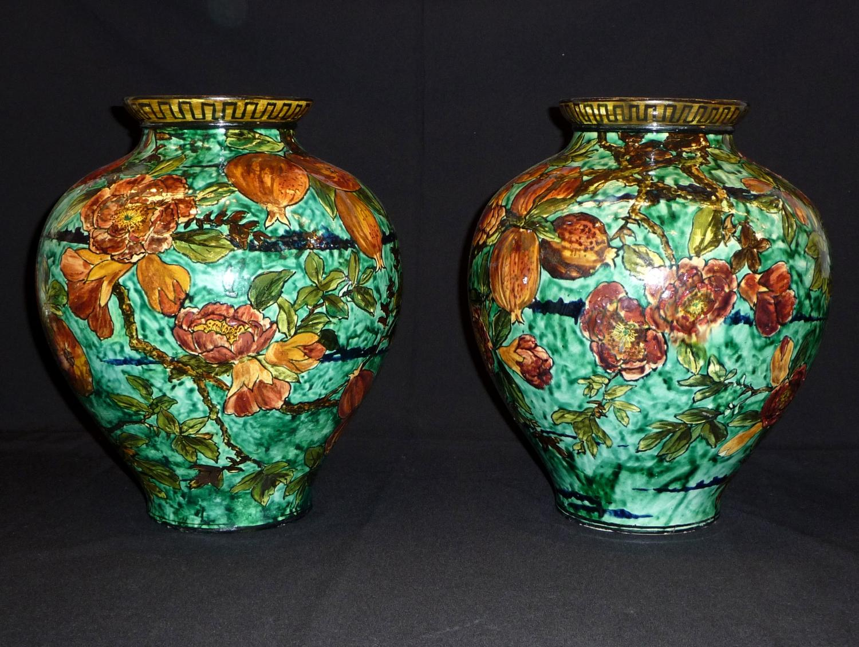 Rare pair of Arts & Crafts Doulton vases