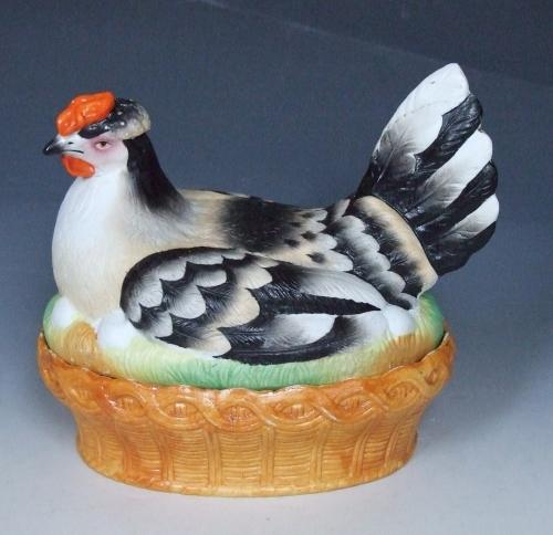 French bisque hen on nest