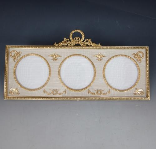 Empire style triple ormolu photo frame