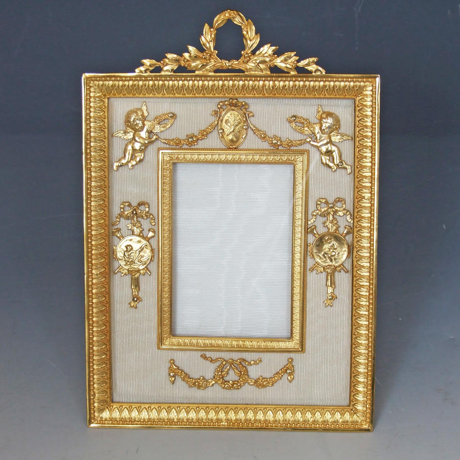 Small ormolu Empire style photo frame