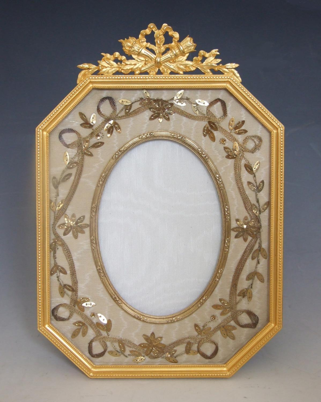 Unusual ormolu and gilt sequin photo frame