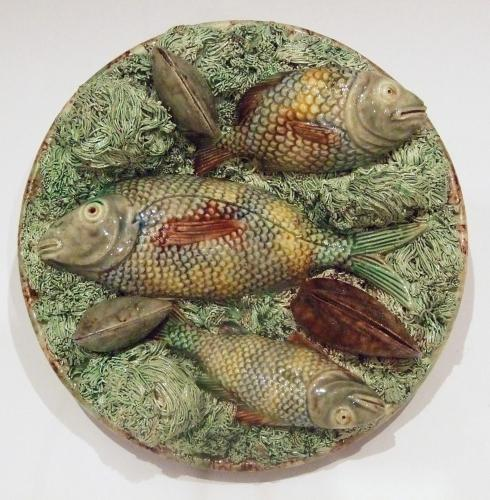 Portuguese Palissy fish and eel plate