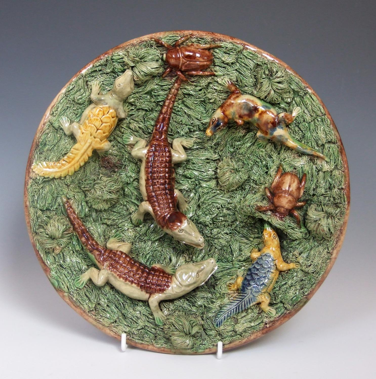 Mafra Palissy crocodile plate