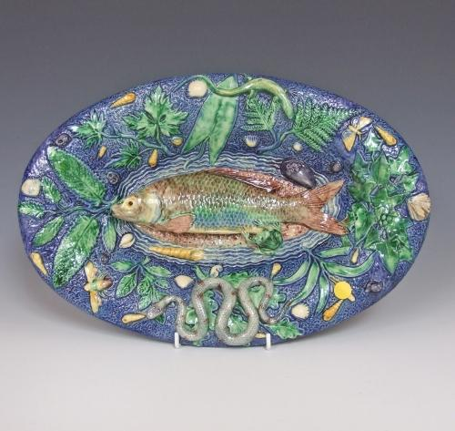 Oval Palissy fish charger