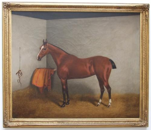 19thC English oil horse portrait