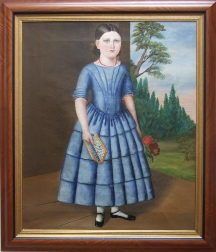 Rare pair of American naive portraits