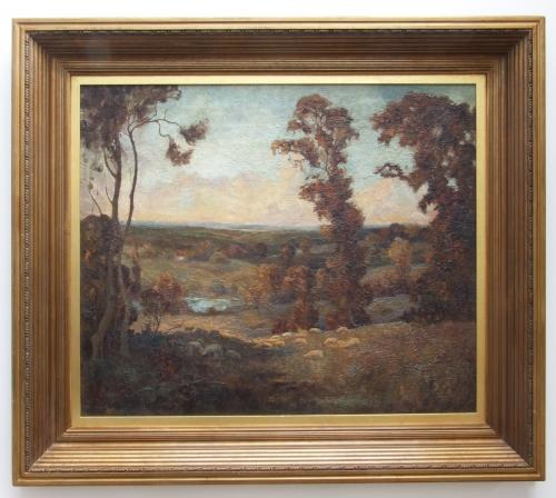 English landscape by J Gilbert Donley