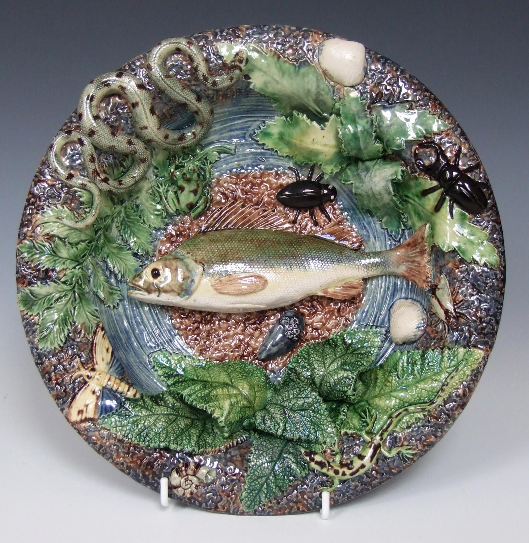 Thomas Sergent Palissy fish plate