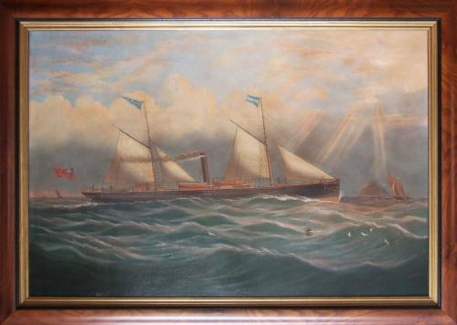 Oil painting of S.S. The Queen