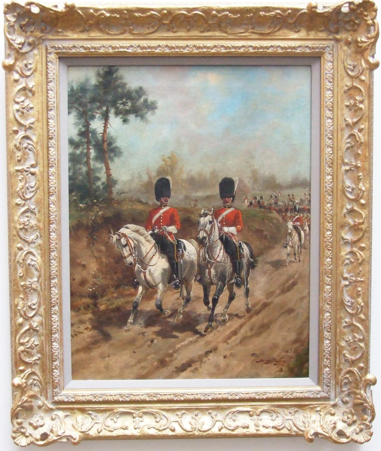 The Scots Greys on patrol by Harry Payne
