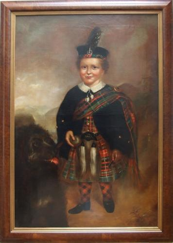 Boy in dress tartan