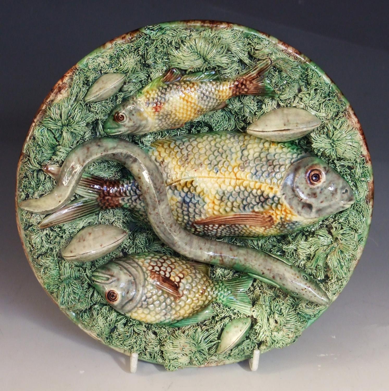 Palissy fish plate