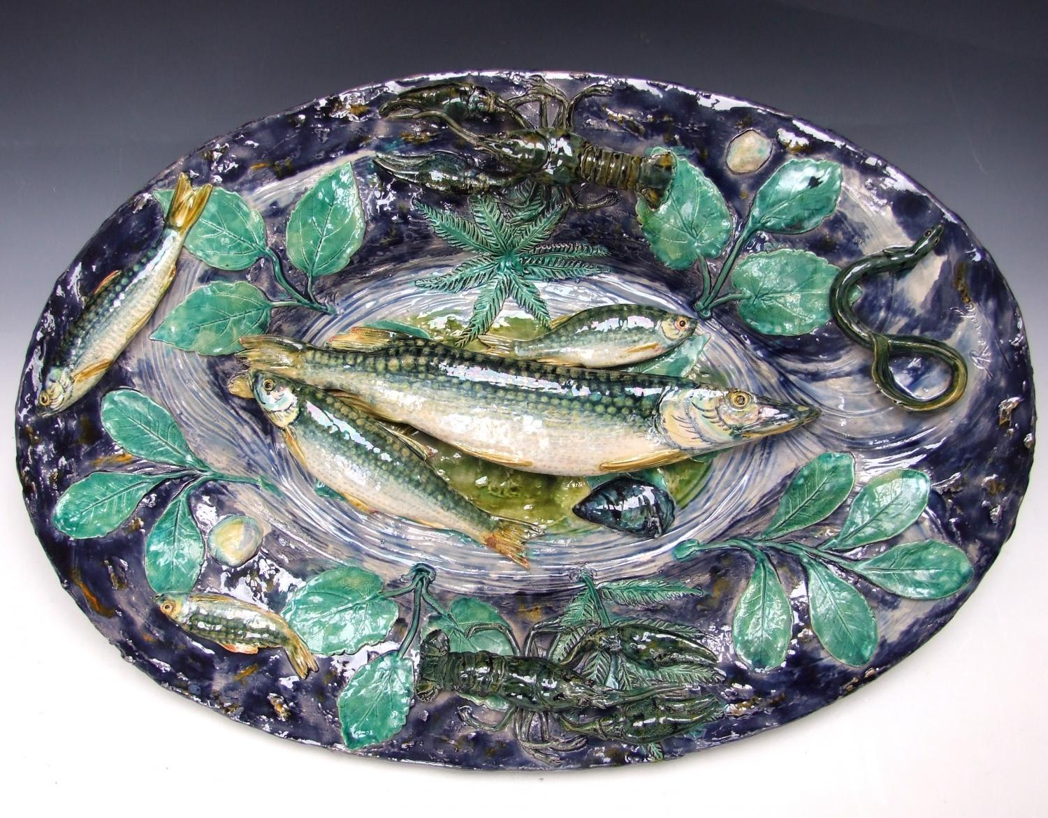 Large Renoleau Palissy charger