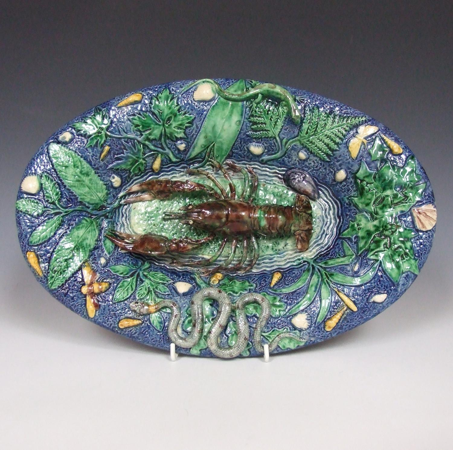 Oval Palissy lobster plate