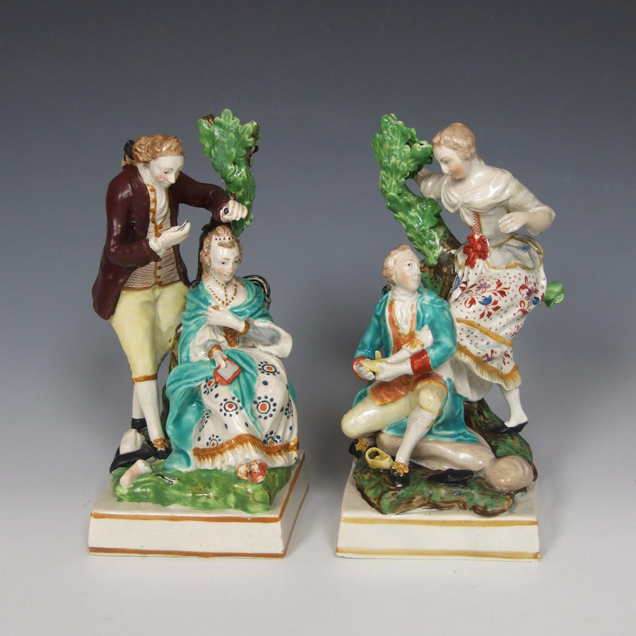 Cobbler and hairdresser figures