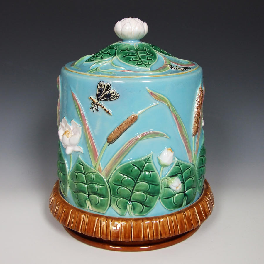 George Jones majolica cheese dish