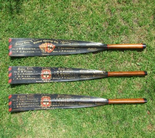 Set of 3 rowing trophy blades
