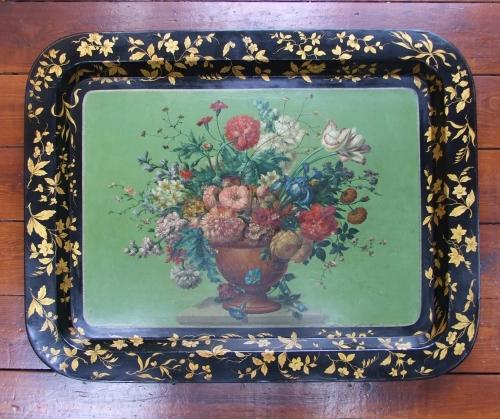 Fine papier-mache tray by Alderman
