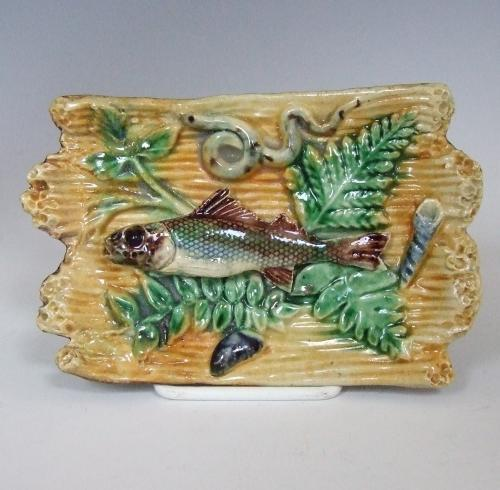 Rare miniature straw ground fish charger