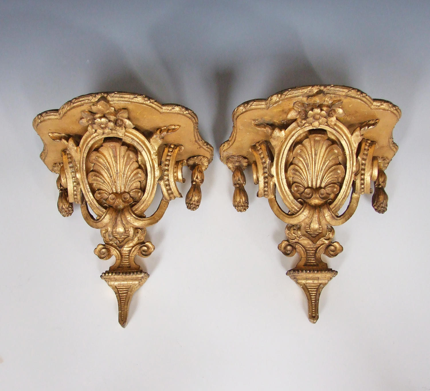Fine pair of gilt brackets