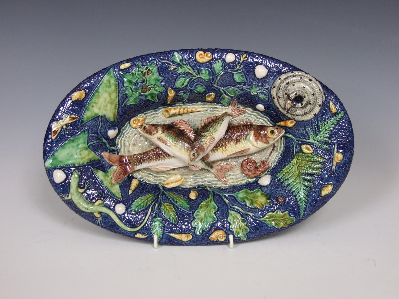 Fine Thomas Sergent Palissy fish platter