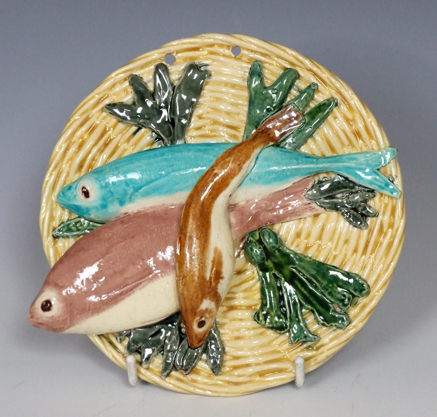 Rare Thomas Sergent Palissy fish plaque