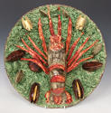 Magnificent & large Portuguese Palissy crayfish charger - picture 1