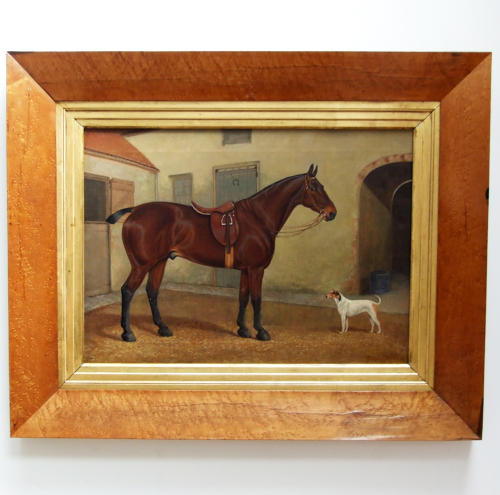 Fine oil horse portrait by Alfred Moginie-Bryant