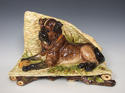 Theodore Deck majolica dog motif planter - picture 1