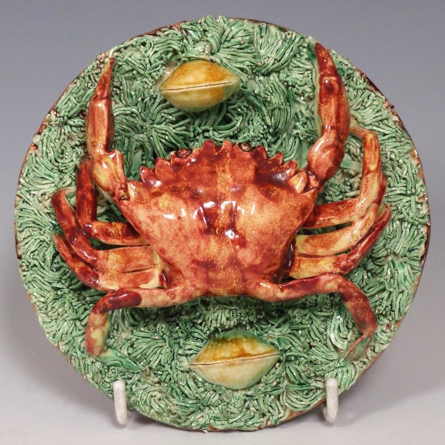 Rare Portuguese Palissy small crab plate
