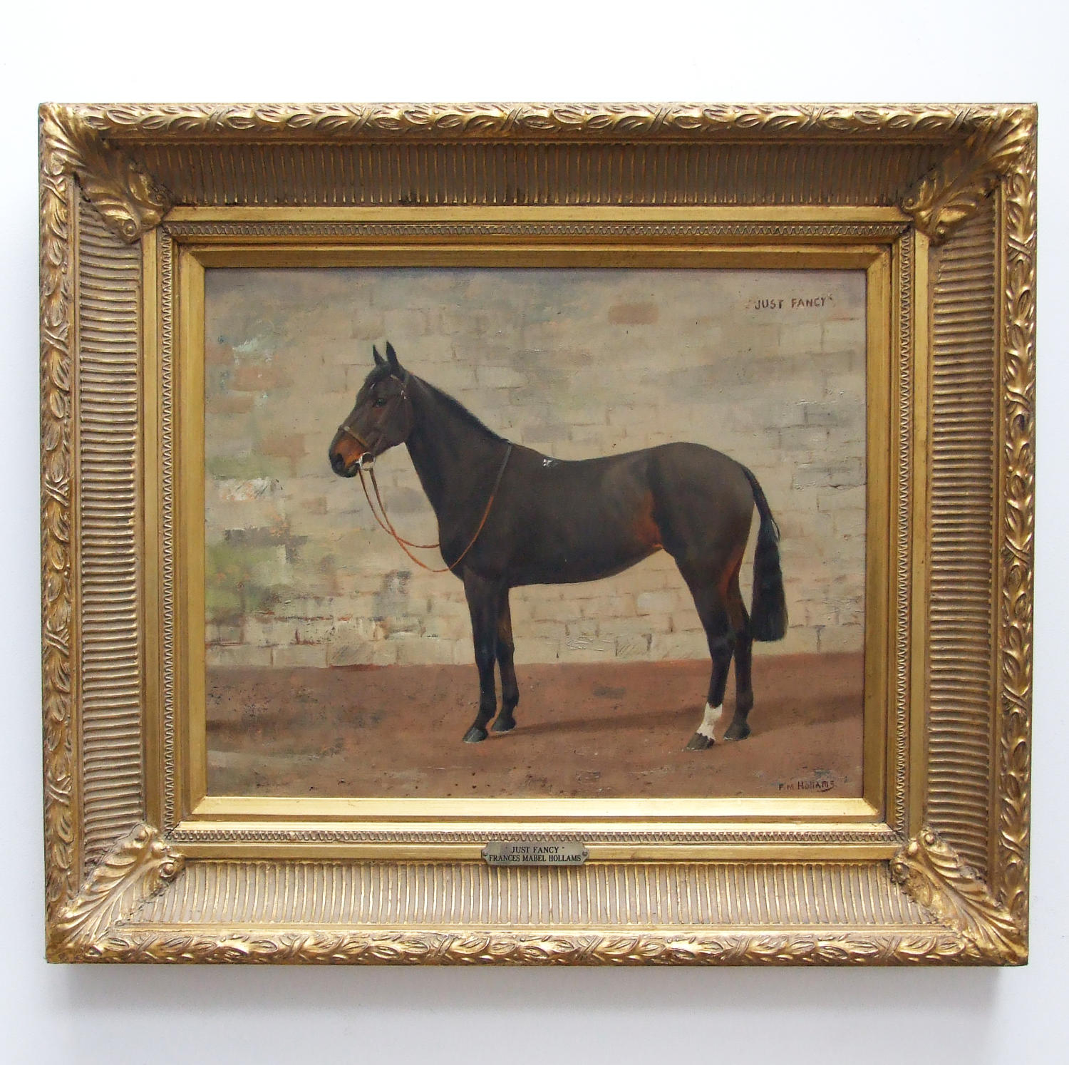 Horse portrait by Frances Mabel Hollams