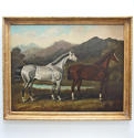 Fine, large, double horse portrait by Samuel Spode - picture 1