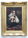 Charming oil painting of foxhound puppies by J.Vincent - picture 3