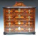 Unusual and attractive inlaid table cabinet - picture 1