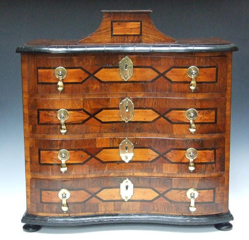 Unusual and attractive inlaid table cabinet