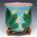 George Jones majolica chestnut blossom jardiniere - picture 1