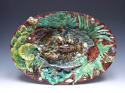 Thomas Sergent large oval Palissy fish charger - picture 1