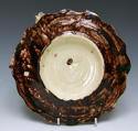 Portuguese Palissy scalloped edge fish plate - picture 2