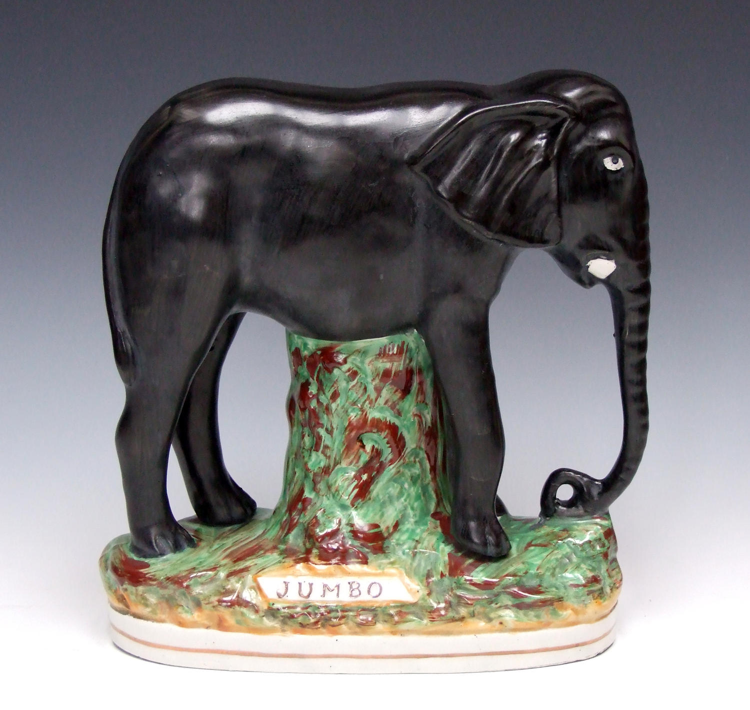 Very rare Staffordshire 'Jumbo' elephant figure