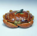 Fabulous Brown Westhead & Moore majolica crab tureen - picture 1