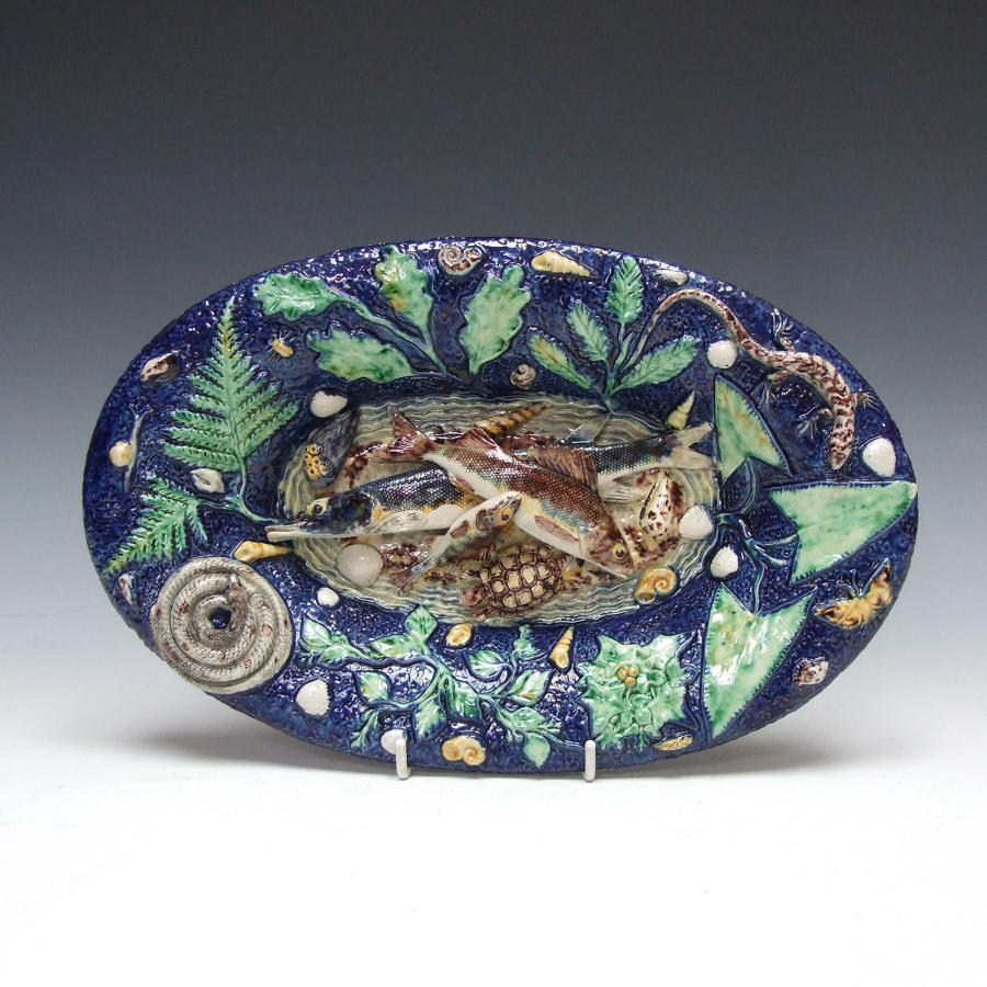 Thomas Sergent oval Palissy multi fish charger
