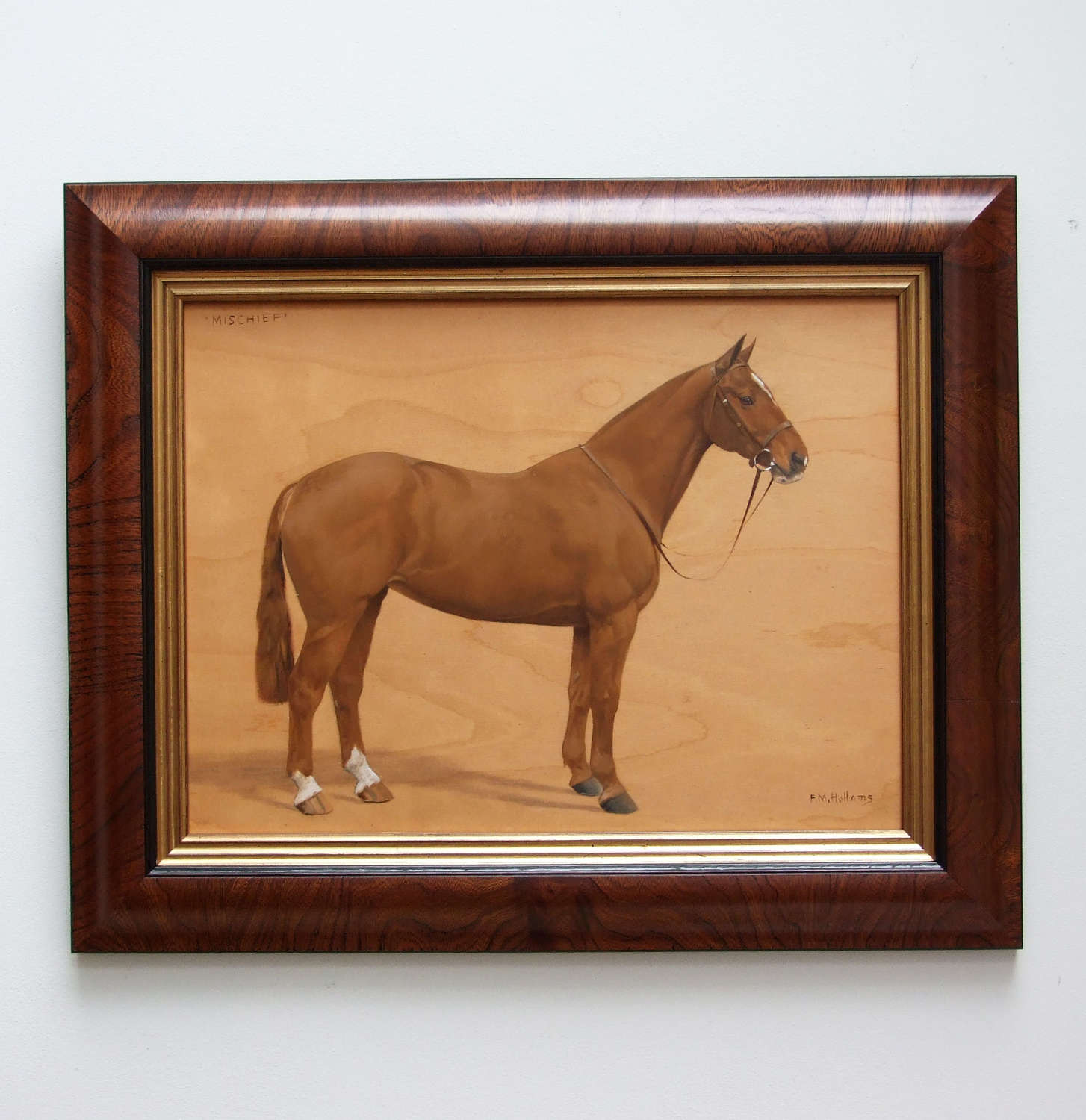 Fine horse portrait by Frances Mabel Hollams