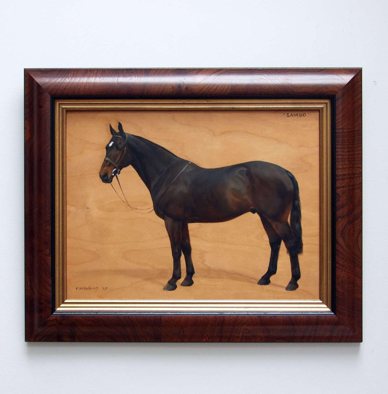Fine horse portrait by Frances Mabel Hollams