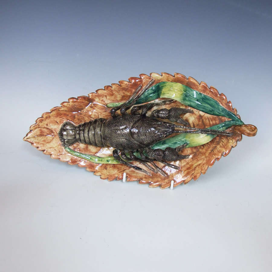 Highly unusual fine Palissy lobster dish by Battaglia